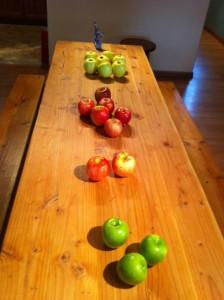 Apples for tasting